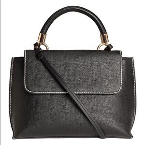 H&M BLACK SMALL BAG WITH HANDLE NWT FAUX LEATHER